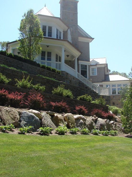 Residential steep slope landscaping design pictures for Residential landscaping ideas