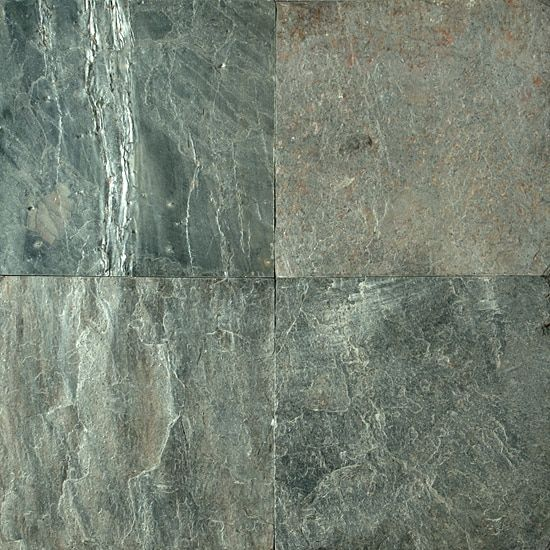 Ocean Green Slate 12 In X 12 In Natural Slate 2 99 Sq Ft Slate Flooring Slate Floor Kitchen Slate