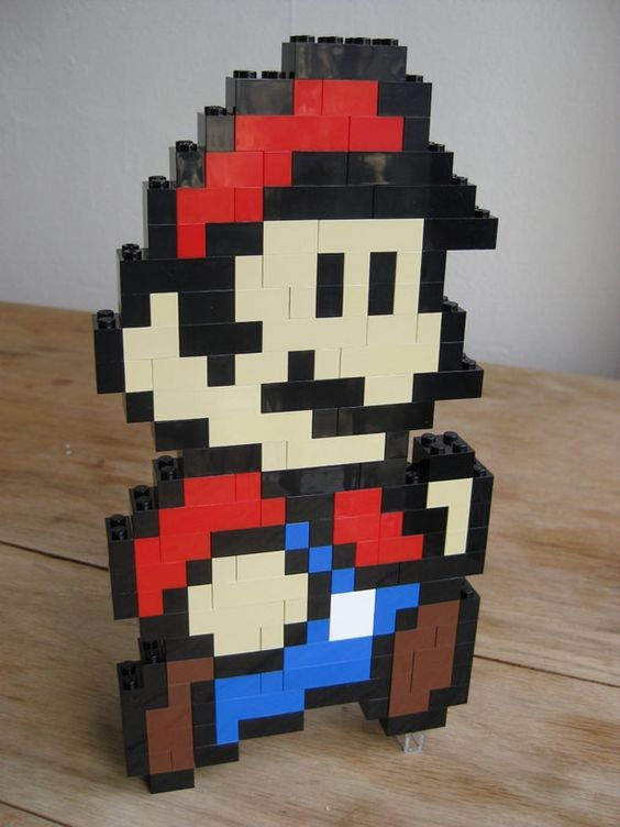 LEGO custom kit: Super Mario Bros 3 Mario running. $30.00, via Etsy.