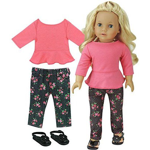 Doll Clothes Pajames Set For 18 inch American Our Generation Journey Girl