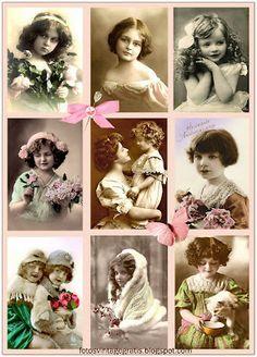 Imágenes vintage gratis / Free vintage images: Fotos antiguas de niñas