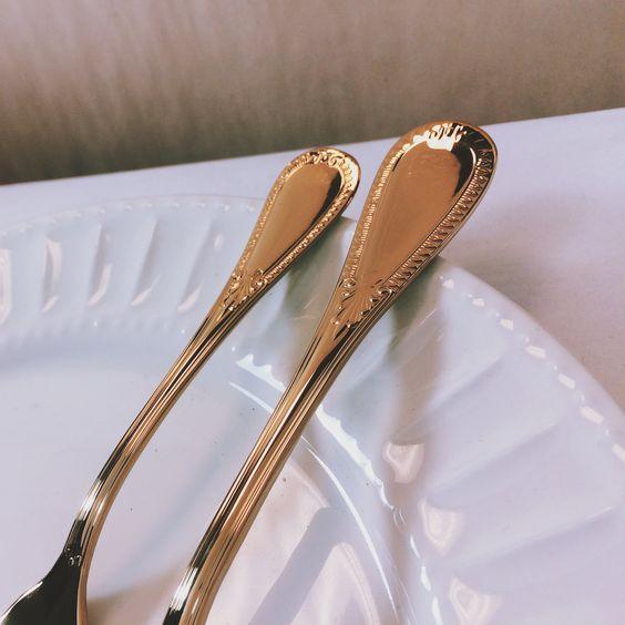 #savoy #gold #flatware by #fortessa