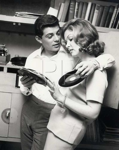 frankie avalon and kay diebel with vinyl