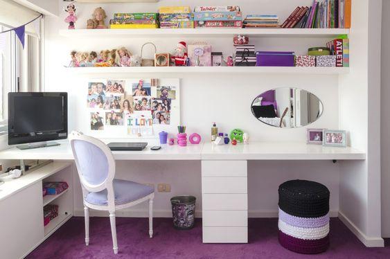 Escritorio en dormitorio juvenil por linea d tienda for Decoracion de escritorios