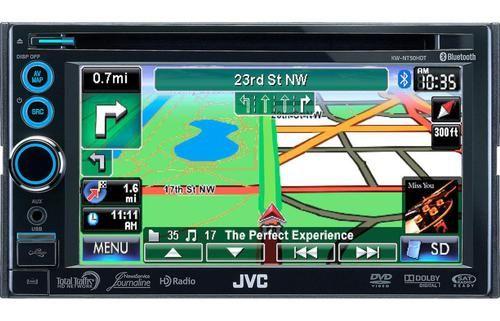 JVC Refurbished KWNT50HDT 6.1-Inch 2-DIN Dual HD Tuner Receiver with Navigation