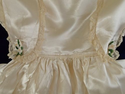 Sweet Vintage Communion Satin Lace Little Girls Dress   eBay