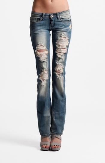 womens ripped bootcut jeans - Jean Yu Beauty
