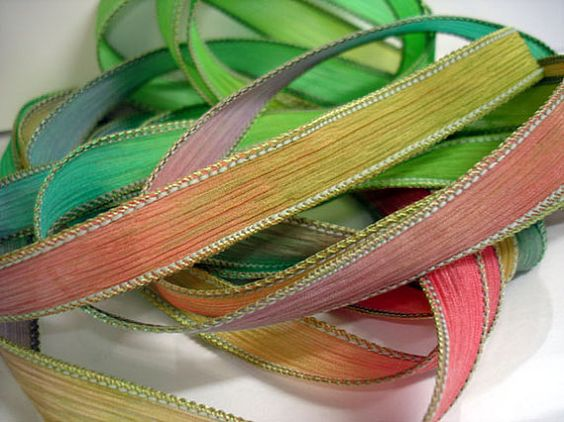 Kaleidoscope  42 inch silk ribbon By Color by ColorKissedSingles, $3.00