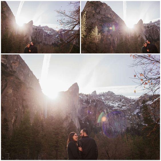 Conocer Yosemite era un sueño para mí, deseaba con todo mi corazón estar ahí y tomar fotos de alguna hermosa pareja. Como si el universo me hubiera escuchado, un día me escribió Juan con la noticia de que se comprometería con Ana, y una de las opciones era entregarle el anillo ahí. Creo que sobra decir que la decisión final fue en Yosemite, y que terminé yendo a documentar una historia tan hermosa. Un día antes en San Francisco anduve turisteando, y en el Golden Gate me topé a Ana…