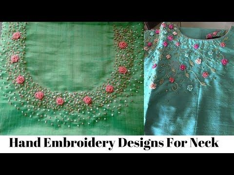 Easy Unique Hand Embroidery Design For Kurti Chudidhar Neckline Youtube Nakis Tasarimlari Elde Nakis Oya Ornekleri,Powerpoint Template Design Free Download 2020