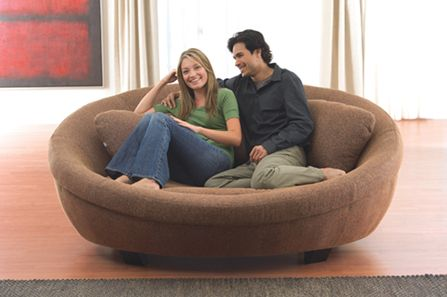 Round Sofa Chair I Wish I Had One Of These In White