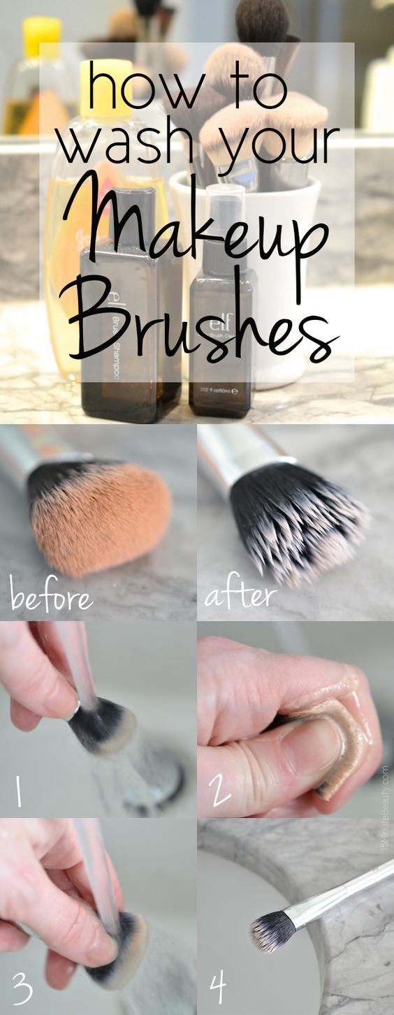 How to wash your #makeup brushes! Don't miss the info on which directions on Pinterest you should avoid... they can basically ruin your brushes!: