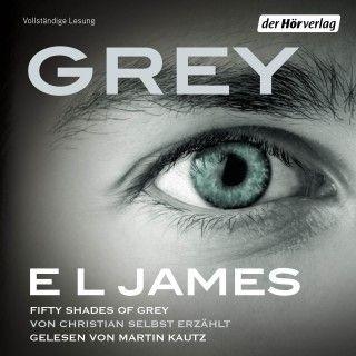 E L James: Grey - Fifty Shades   Die Welt von Fifty Shades of Grey auf ganz neue Weise – durch die Augen von Christian Grey.  Erzählt in Christians eigenen Worten, erfüllt mit seinen Gedanken, Vorstellungen und Träumen zeigt E L James die Liebesgeschichte, die Millionen von Lesern auf der ganzen Welt in Bann geschlagen hat, aus völlig neuer Perspektive.