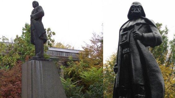 """El malévolo padre de Luke Skywalkerahora es oficialmente un """"héroe moderno"""" en Ucrania. A casi 25 años de la independencia de Ucrania de la URSS, el país aun mantiene en pie muchos monumentos que ..."""