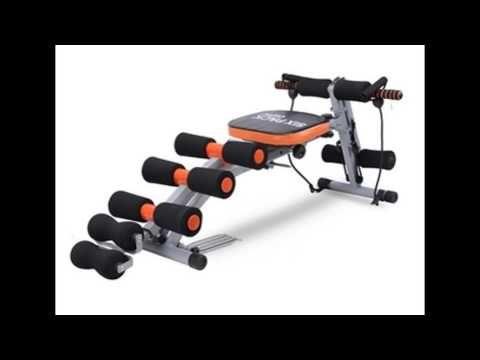 ลดราคา SIX PACK CARE B&G เครื่องออกกำลังกาย (สีดำ/ส้ม)พร้อมสายแรงต้าน