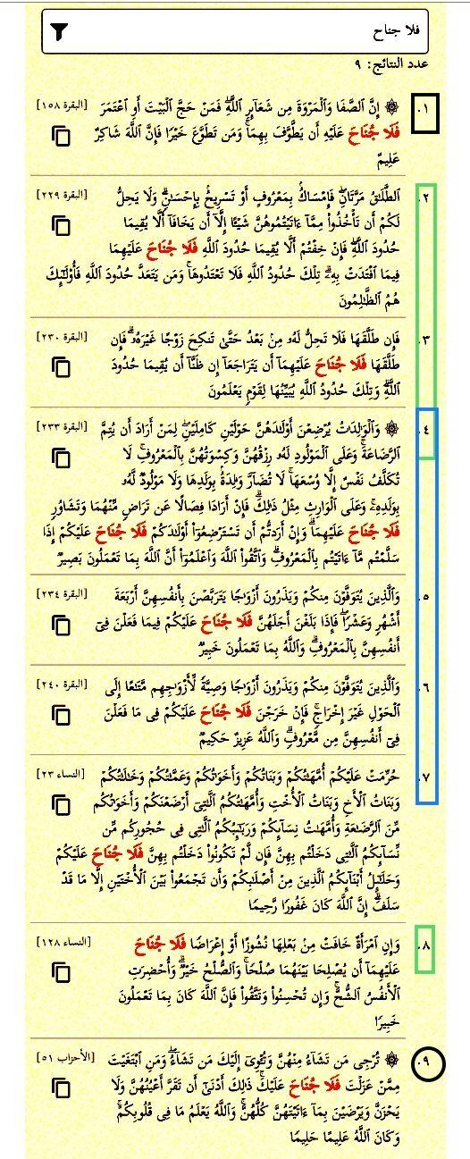 فلا جناح بزيادة الفاء عشر مرات في القرآن مرتان في آية البقرة ٢٣٣ أربع مرات فلا جناح عليكم أربع مرات فلا جناح عل Quran Tafseer Bullet Journal Quran