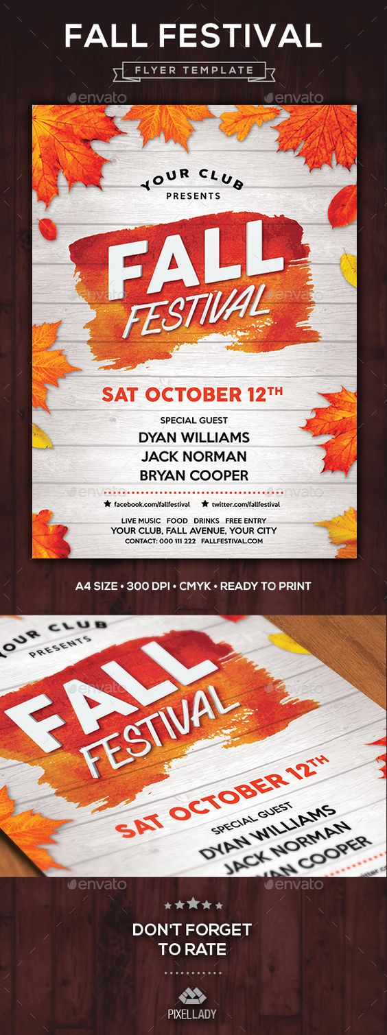 fall festival flyer flyers fall and festivals. Black Bedroom Furniture Sets. Home Design Ideas