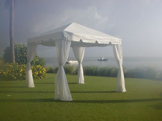 Leg Drapes With Sash On 10 X 10 Tent Tent Decorations Party Gazebo 10x10 Tent
