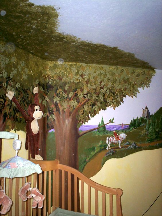 Pinterest the world s catalog of ideas for Enchanted forest wall mural