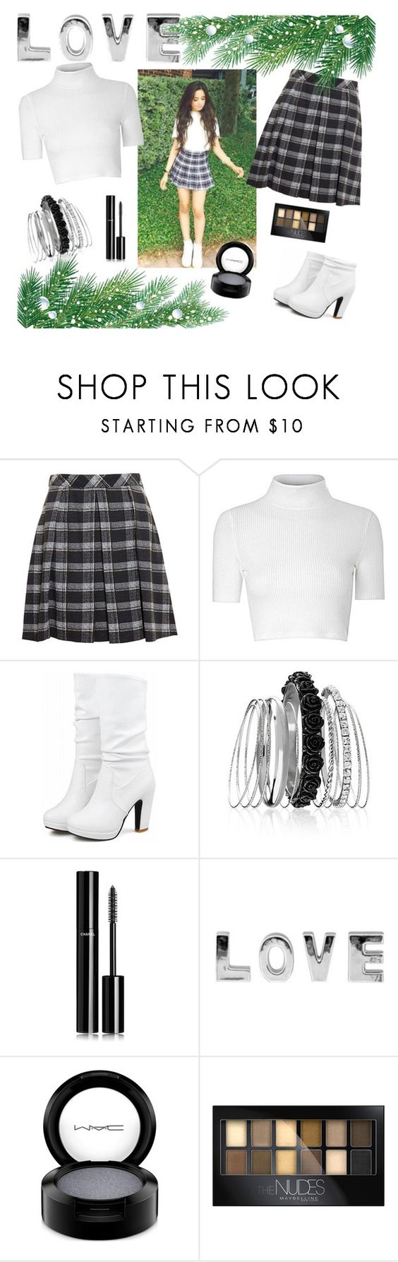 """""""Camila Cabello"""" by sandragisela99 ❤ liked on Polyvore featuring Proenza Schouler, Glamorous, Avenue, Chanel, MAC Cosmetics and Maybelline"""