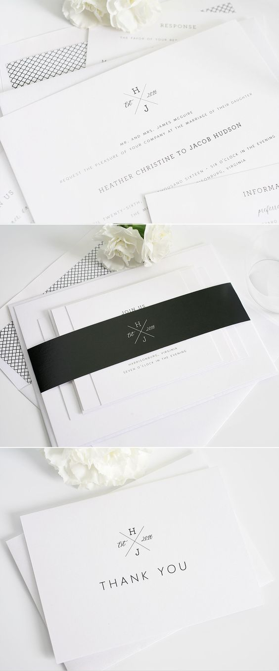 Monogrammed wedding invitations from Shine Wedding Invitations. http://www.shineweddinginvitations.com/wedding-invitations/cross-monogram-wedding-invitations:
