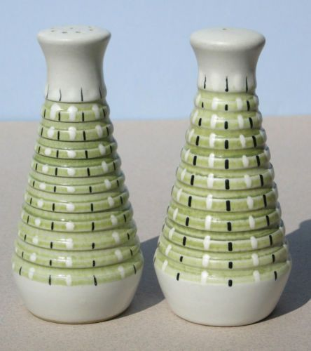Denby SALT and & PEPPER S&P SHAKERS Rubber Stoppers, Made in England