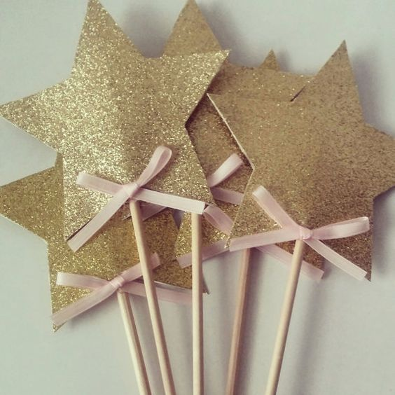 Fairy Wands / Pink and Gold Party / Princess Wands by StefsGirls