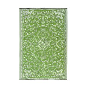 Looooove!!   Murano 4x6 Lime Green/Creme now featured on Fab.