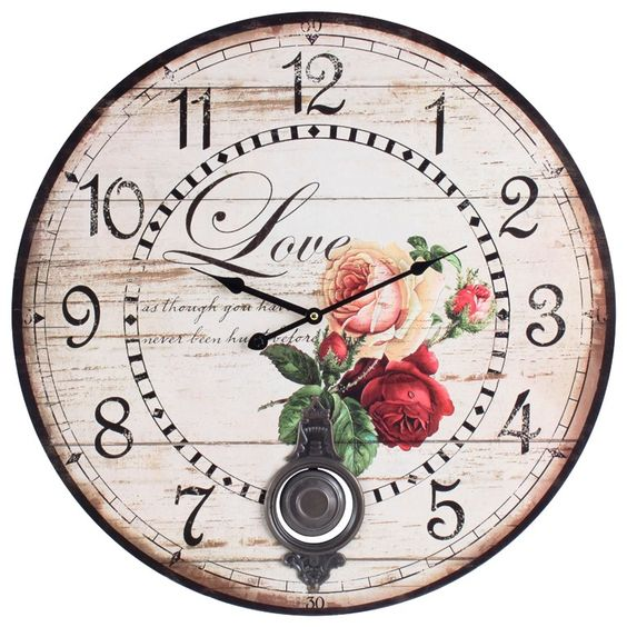 "Ceas de perete ""Vintage Marie"": 49 99, Wall Clocks, Beyaz Duvar Dekorları, The Most Beautiful, Wall Clock, Ceasuri Retro"