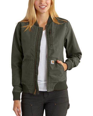 Carhartt womens Crawford Bomber Jacket Work Utility Outerwear