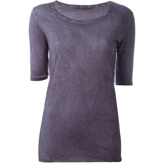 Humanoid Jill T-Shirt ($67) ❤ liked on Polyvore featuring tops, t-shirts, purple t shirt, cotton t shirt, cotton tee, purple tee and purple top
