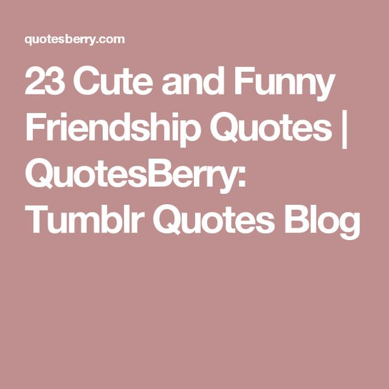 23 Cute and Funny Friendship Quotes | QuotesBerry: Tumblr Quotes ...