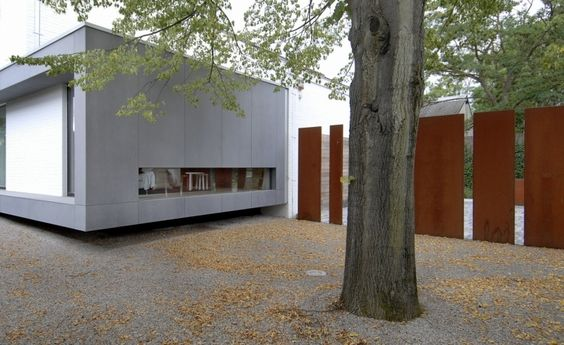 ... rouillé dans le jardin 16 moderne jardin moderne clôture acier