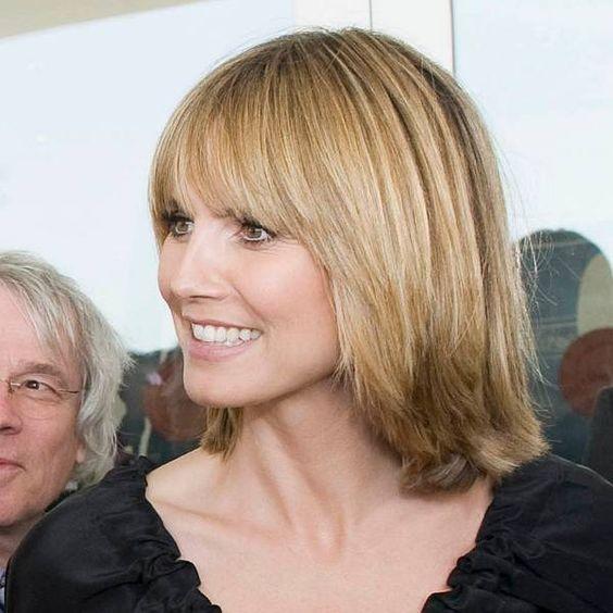 Heidi Klum Mit Neuer Biederer Frisur Neue Frisuren Haar Styling Haarschnitt Ideen