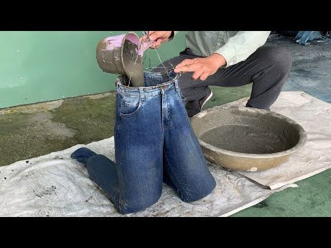 Crazy Idea Cement And Jeans How To Make Flower Pots From Cement And Jeans Youtube V 2020 G Idei