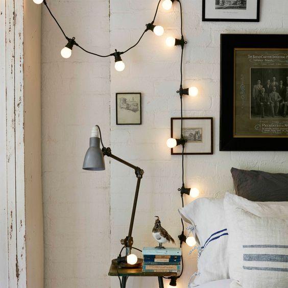 Guirlande Guinguette Raccordable avec 20 Globes LED Blanc Chaud, Type U de Lights4fun: Amazon.fr: Luminaires et Eclairage: