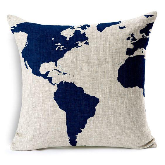 Aliexpress.com: Comprar Ancla náutica marinero Sailing mapa algodón cojín del sofá Piaochuang Pad de decoración del hogar funda…