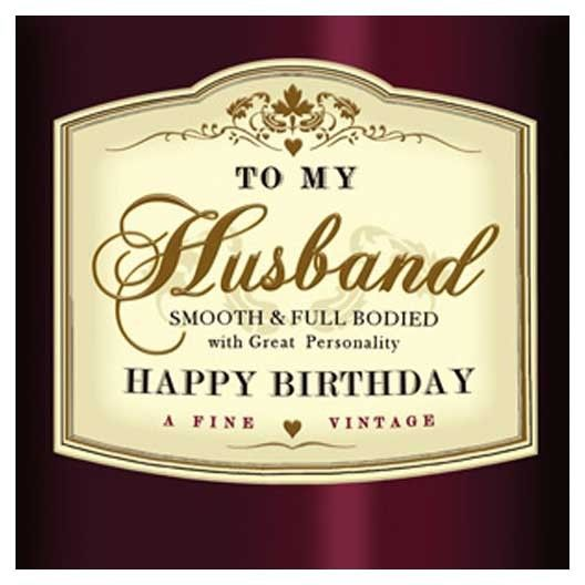 """To My Husband. Happy Birthday"" Greeting Card"