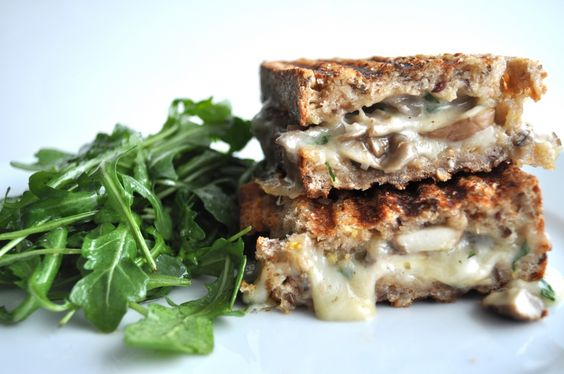 Making this next week! White Truffle Oil & Mushroom Grilled Cheese on the Panini Grill!