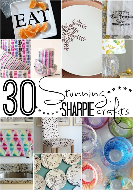 30 Stunning Home Decor Sharpie Crafts. Living within a budget does not mean you have to live without style. Click now!: