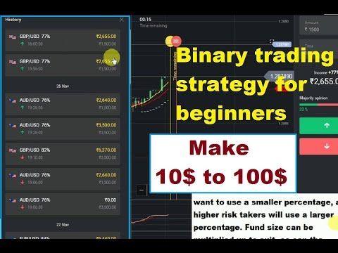 Binary Trading Strategy For Beginners 100 Winning Strategy Make