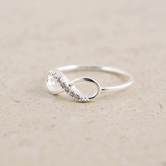 Infinity Ring in Silver by bkandjio on Etsy, $15.00: