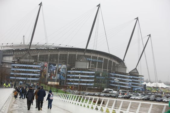 The famous Etihad Stadium, home to Manchester City Football Club. Policing major football games can be a regular feature of an officer's work. www.gmp.police.uk