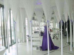 White String Curtain Panel for wedding decoration and room divider (3'x12')