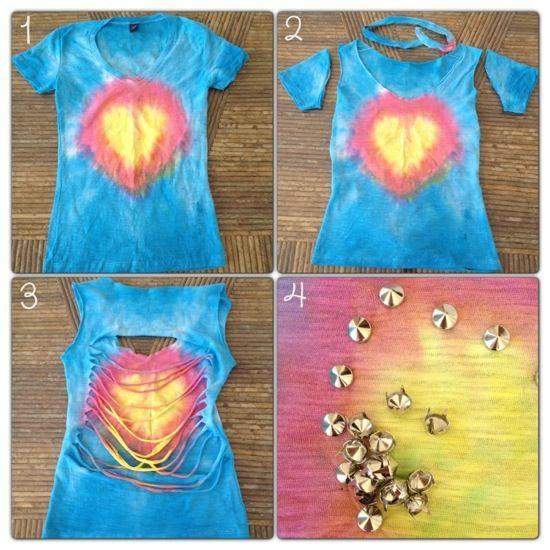 Serie carnaval | DIY : blusa tie-dye de corazón