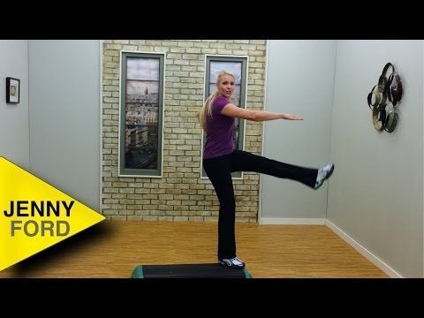 Step Aerobics Basic W 3 Combos Fitness Cardio Workout Jenny Ford