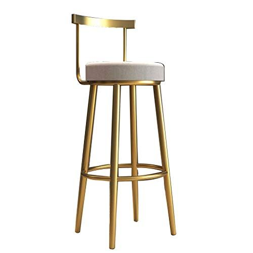 European Metal Bar Stool Bar Chair Sponge Seat Height Fixed Rotating Bar Stool Suitable For Bar Counter Family Kitchen Metal Bar Stools Bar Chairs Bar Stools