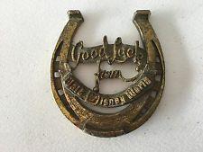 Walt Disney World Bronze Good Luck Horseshoe - 1970's, Rare
