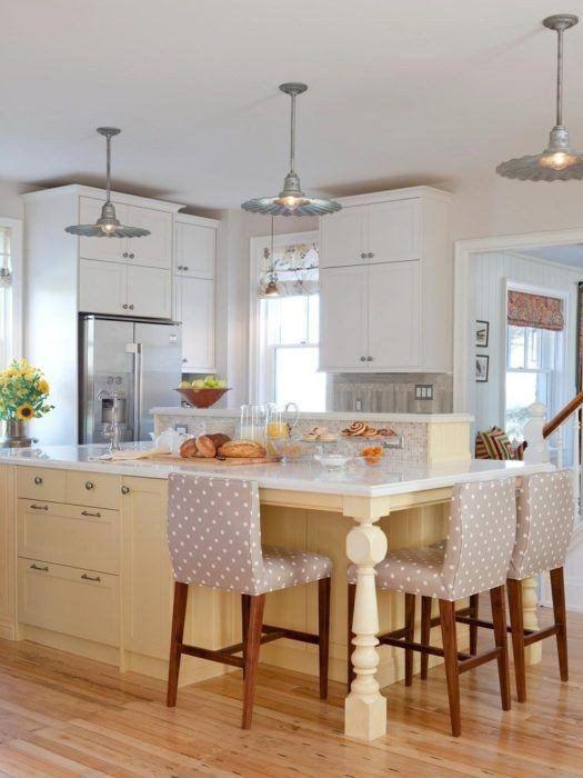 Cocinas modernas con isla cocina color amarillo claro muebles ...
