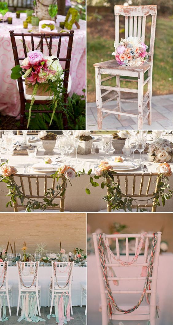 ideas para decorar las sillas de la boda wedding decor